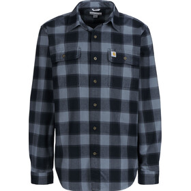 Carhartt Hubbard Slim Fit Flannel Shirt Men, steel blue